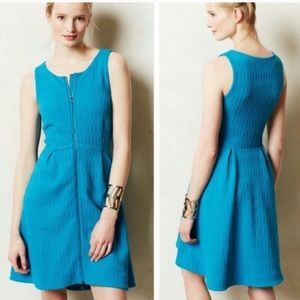 Anthropologie Leifsdottir Tonnelle dress turquoise